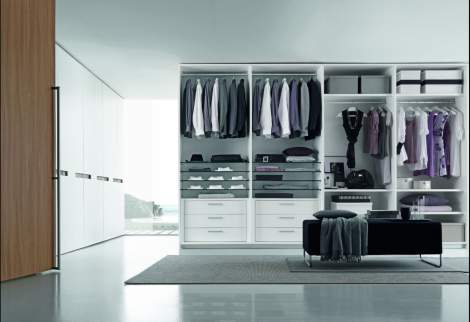 Tecnopolis Free Walk-in Closet Arrangement #6, Presotto Italy