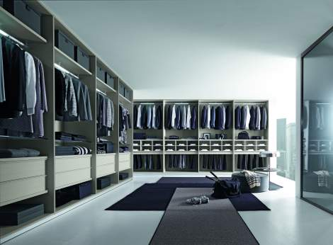 Tecnopolis Free Walk-in Closet Arrangement #10, Presotto Italy