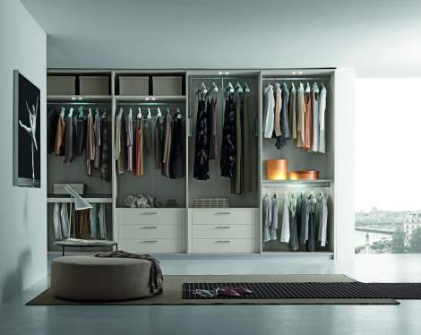 Tecnopolis Free Walk-in Closet Arrangement #9, Presotto Italy