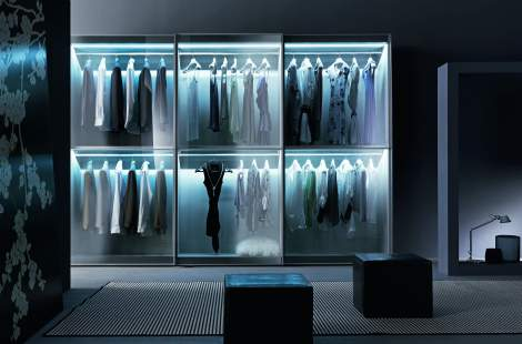 Tecnopolis Free Walk-in Closet Arrangement #13, Presotto Italy
