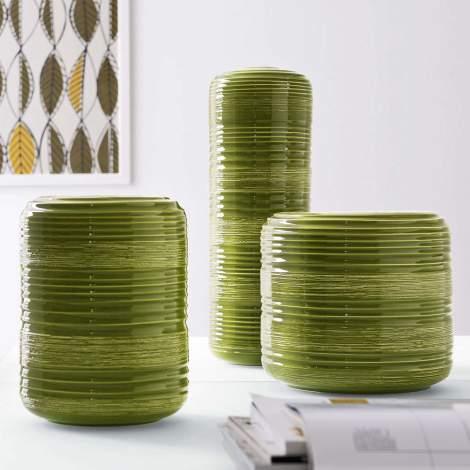 CS/7161-B Tristan Ceramic Vase with Pattern, Calligaris Italy