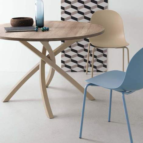 CB/4782-RD Twister Dining Table, Connubia by Calligaris Italy