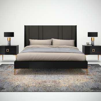 Juliana Bed (Upholstered Head Board), Planum Furniture Italy