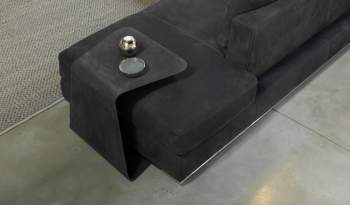 Skin Leather Side Table, Cierre Italy