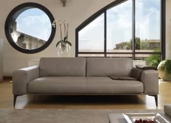 Aida A Maxi Leather Sofa, Cierre  Italy