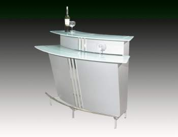 Broadway Contemporary Bar in Silver