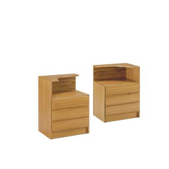 Classica Night Stand With Curved Top, Mobican