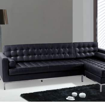 Moderno F14 Black Sectional Sofa
