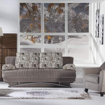 Fantasy Aristo Light Brown Sofa-Sleeper