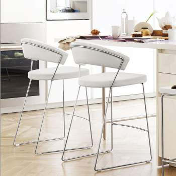 CB/1087-LH New York Leather Bar Stool, Connubia by Calligaris Italy