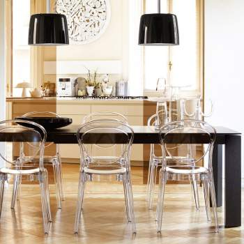CS/4058-LV 180 Omnia Glass Dining Table, Calligaris Italy