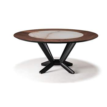 Planer Round Ker-Wood Dining Table, Cattelan Italia