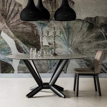 Planer Round Keramik Dining Table, Cattelan Italia