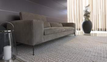 Rigoletto B Leather Sofa, Cierre Italy