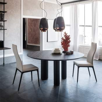 Roll Wood Round Dining Table, Cattelan Italia