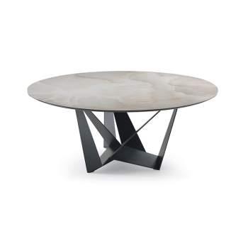 Skorpio Keramik Round Dining Table, Cattelan Italia