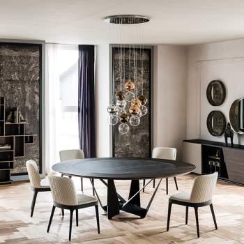 Skorpio Round Ker-Wood Dining Table, Cattelan Italia