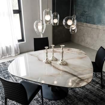 Skyline Round Keramik Dining Table, Cattelan Italia