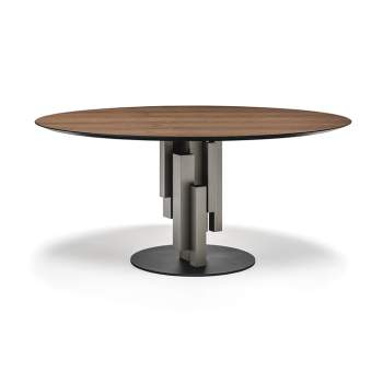 Skyline Round Wood Dining Table, Cattelan Italia