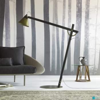 Slope Bronze Floor Lamp, Miniforms Italy