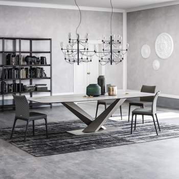 Stratos Keramik Dining Table, Cattelan Italia