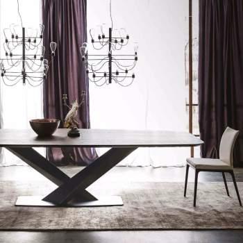 Stratos Wood Dining Table, Cattelan Italia