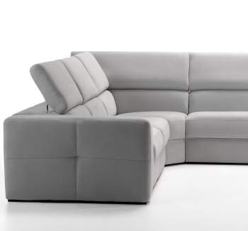 Themis Leather Sectional Sofa with Recliner, ROM Belgium